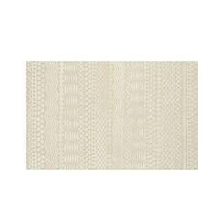 Reyes Neutral Hand Knotted 5'x8' Rug