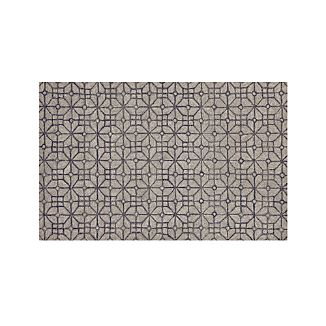 Rhea Graphite Grey Wool-Blend 5'x8' Rug