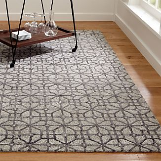 Rhea Graphite Grey Wool-Blend Rug