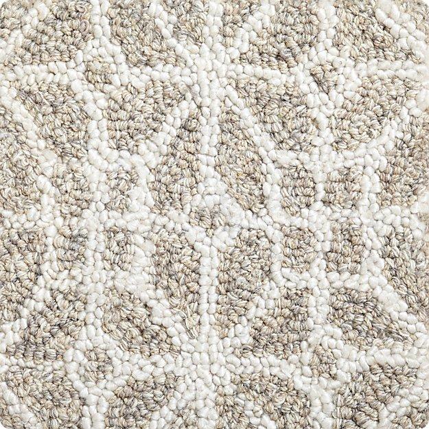 """Rhea Dove Wool-Blend 12"""" sq. Rug Swatch"""