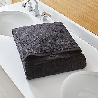 Ribbed Black Bath Sheet