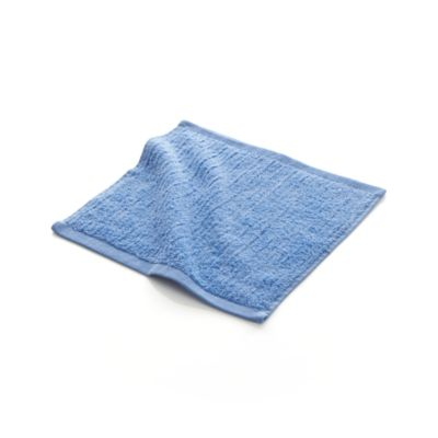 Ribbed Blue Washcloth