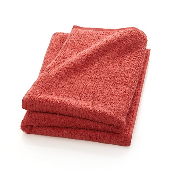 Ribbed Coral Bath Sheet