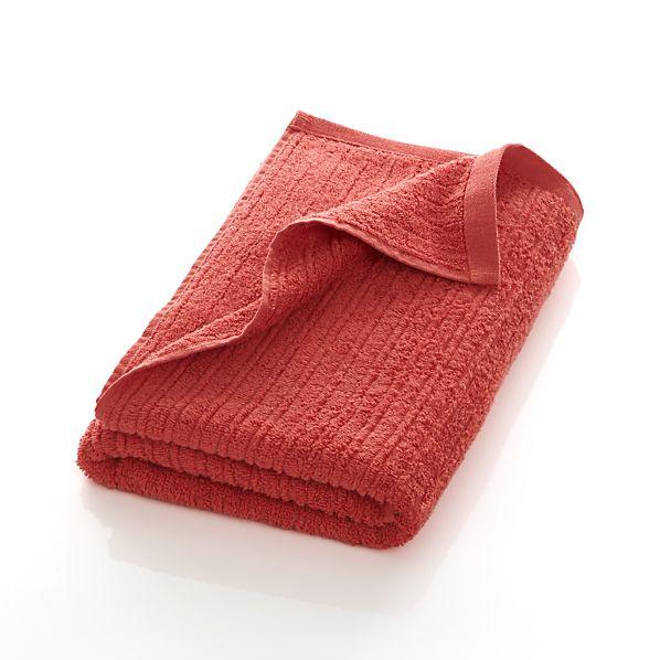 Ribbed Coral Bath Towel