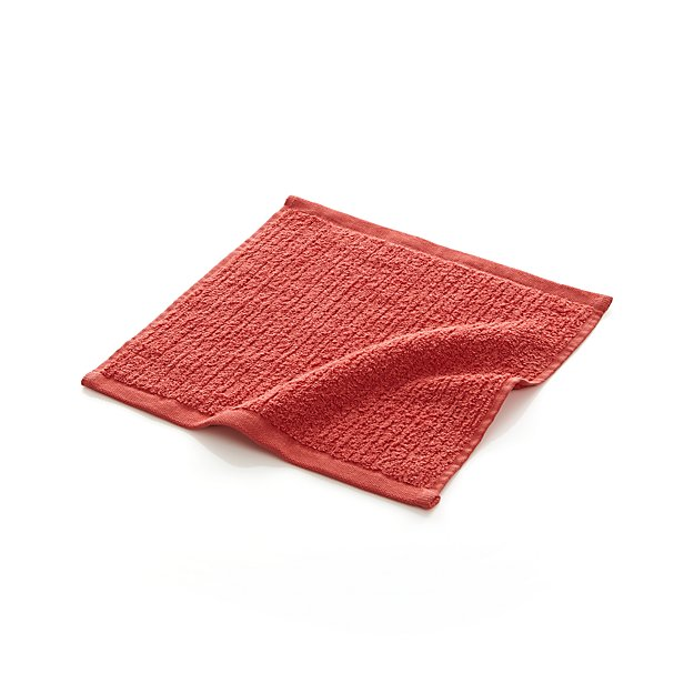 Ribbed Coral Washcloth