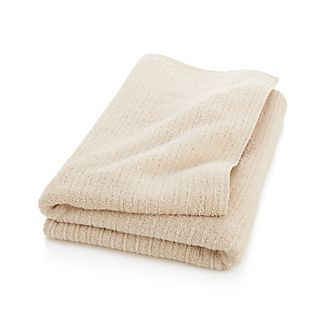 Ribbed Cream Bath Sheet