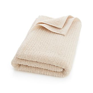 Ribbed Cream Bath Towel