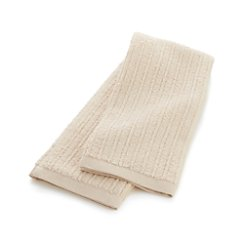 Ribbed Cream Hand Towel