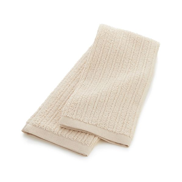 RibbedCreamHandTowelS16