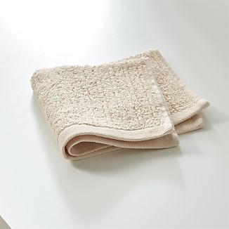 Ribbed Cream Washcloth