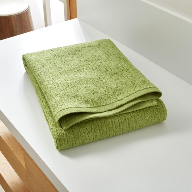 Ribbed Green Bath Sheet