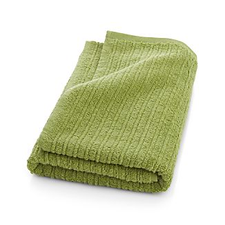 Ribbed Green Bath Towel