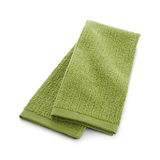 Ribbed Green Hand Towel