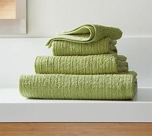 Ribbed Green Washcloth