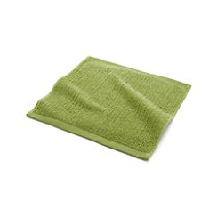 Ribbed Green Washcloth