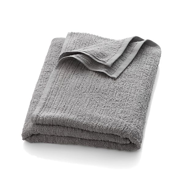 Ribbed Grey Bath Sheet
