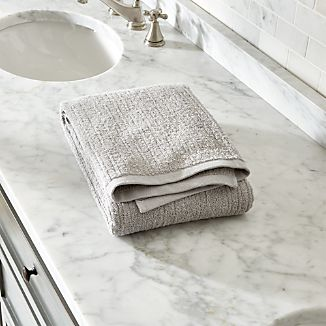 Ribbed Grey Bath Towel