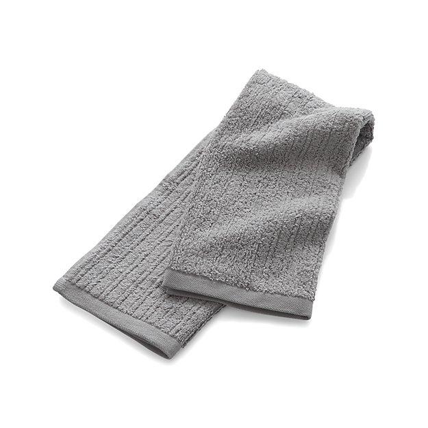 Ribbed Grey Hand Towel