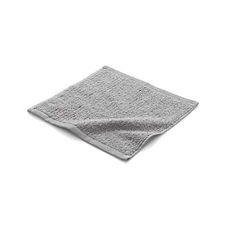 Ribbed Grey Washcloth