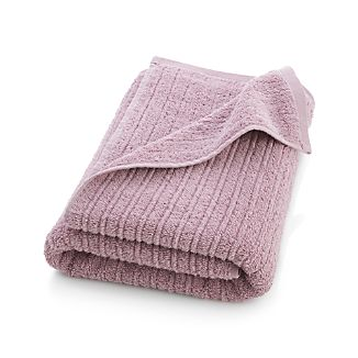 Ribbed Purple Bath Towel