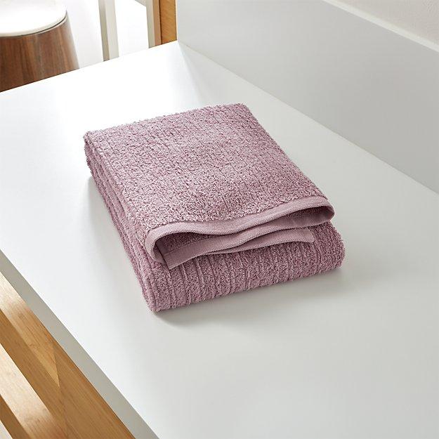 Ribbed Purple Bath Towel