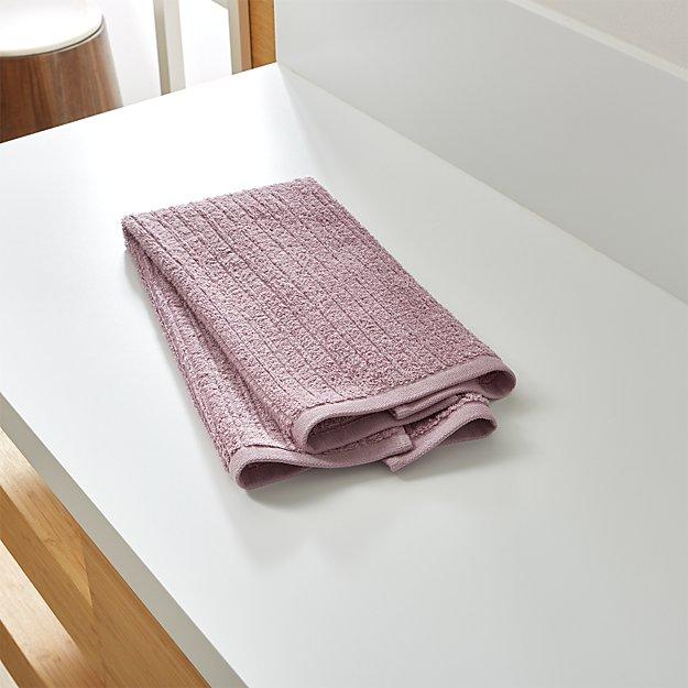 Ribbed Purple Hand Towel
