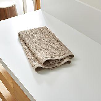 Ribbed Sand Hand Towel