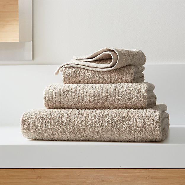 Ribbed Sand Bath Towels