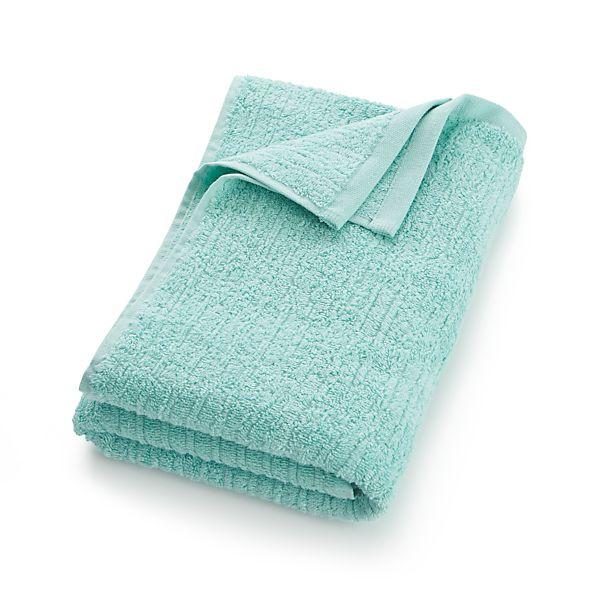 Charisma Bath Towels Seafoam: Ribbed Seafoam Bath Towel In Bath Towels
