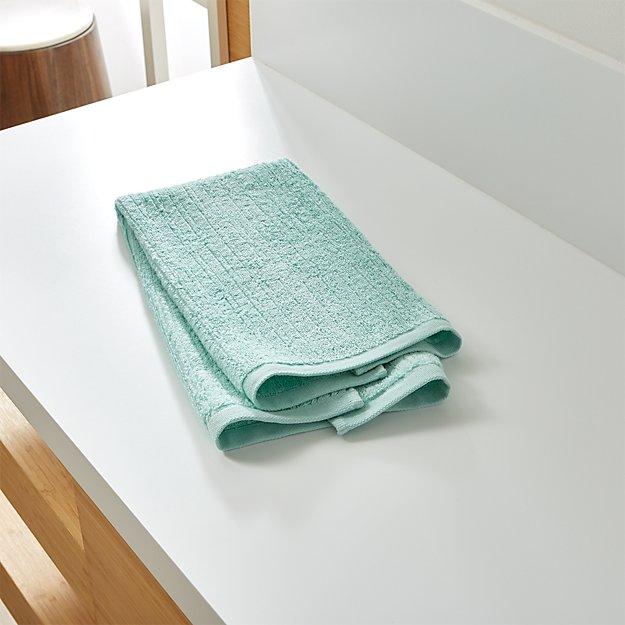 Ribbed Seafoam Hand Towel