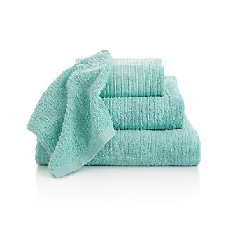 Ribbed Seafoam Bath Towels