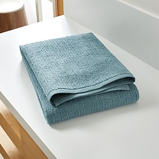 Ribbed Teal Bath Sheet
