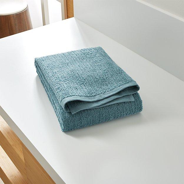 Ribbed Teal Bath Towel