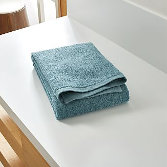 Ribbed Teal Bath Towel