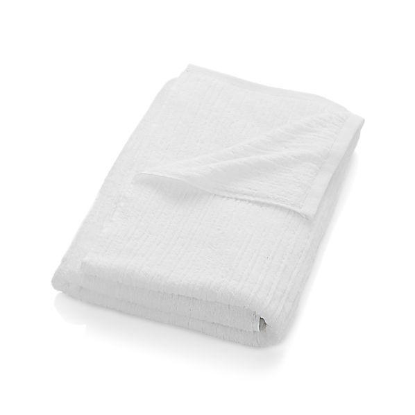 Ribbed White Bath Sheet