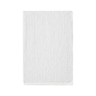 Ribbed White Bath Towel