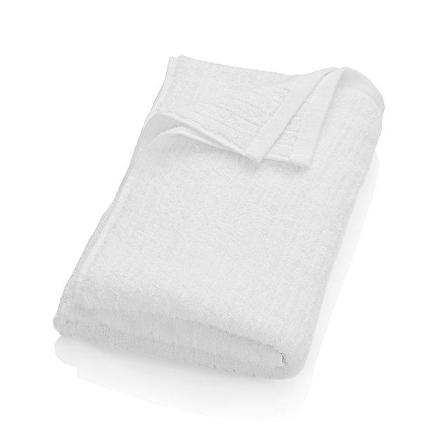 Ribbed White Bath Towel