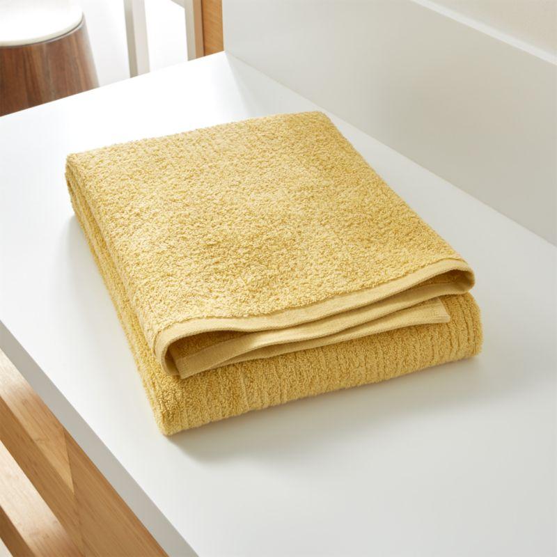 Ribbed Yellow Bath Sheet