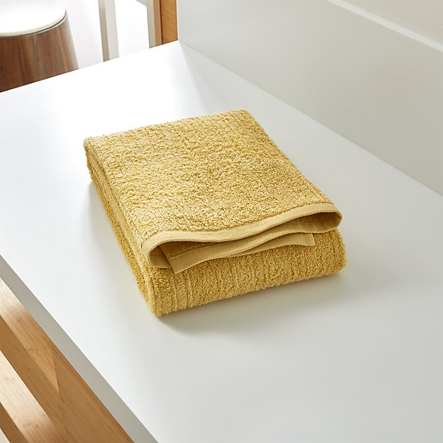 Ribbed Yellow Bath Towel