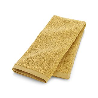 Ribbed Yellow Hand Towel