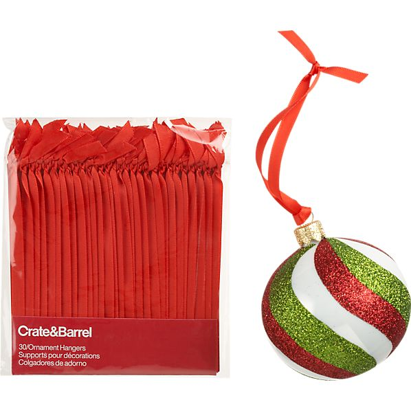 Set of 30 Ribbon Ornament Hangers