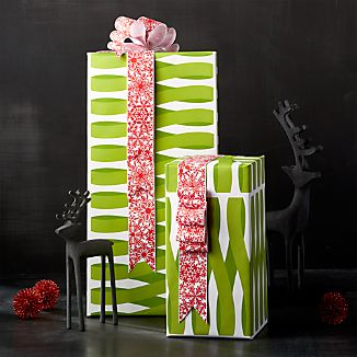 Green Ribbon Wrapping Paper