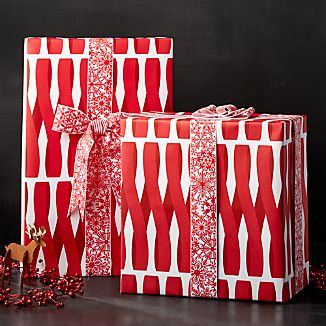Red Ribbon Wrapping Paper