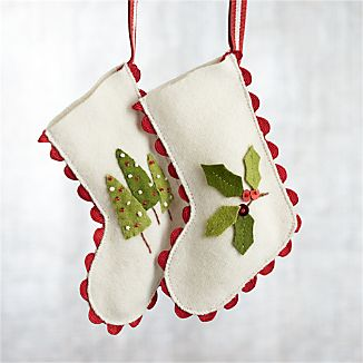 Ric Rac Stocking Ornaments
