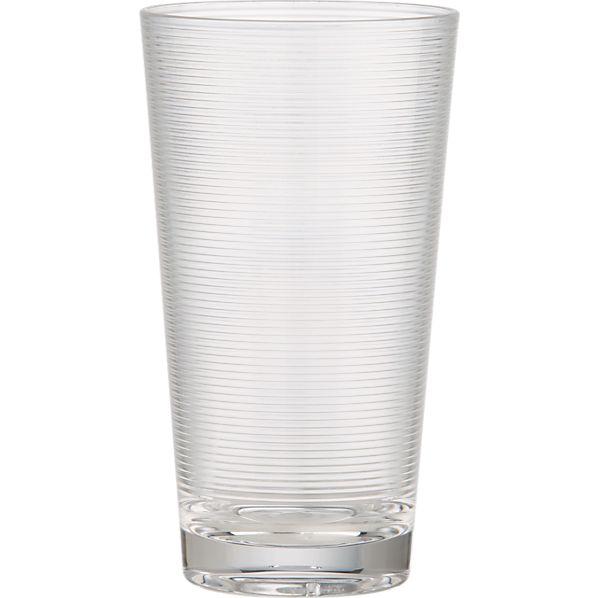 Ridged Acrylic Highball Glass