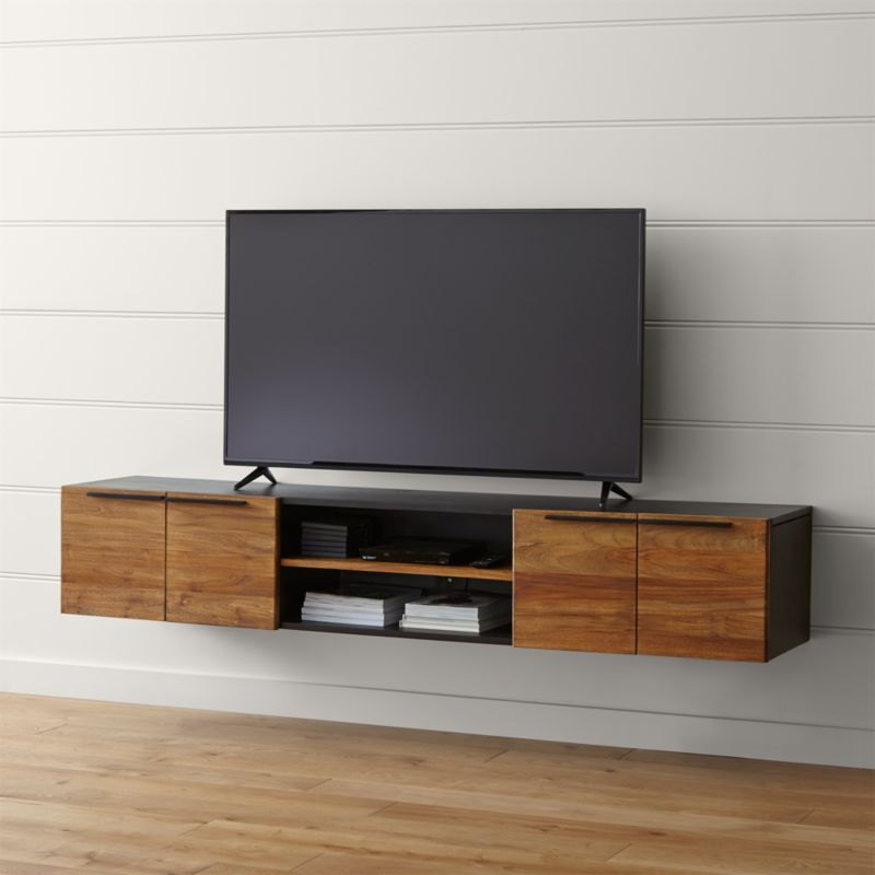 Rigby 80 5 Quot Large Floating Media Console Crate And Barrel