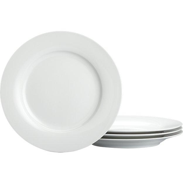 Set of 4 Rim Salad Plates