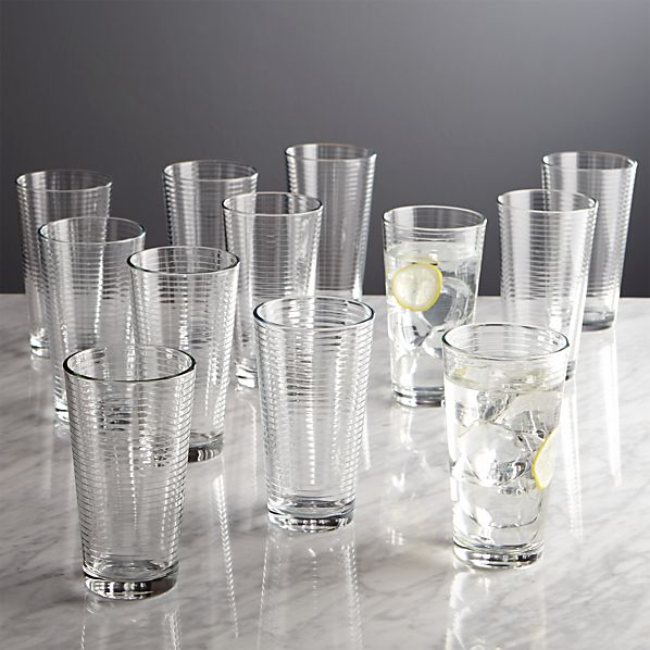 Rings Cooler Glasses Set of 12