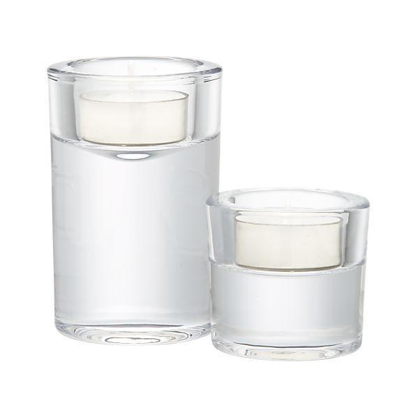 Rise Glass Tea Light Candle Holders
