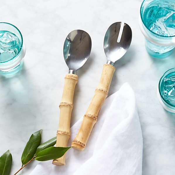 Riviera Bamboo 2-Piece Long Serving Set